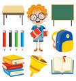 school child vector image vector image