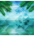 sea with island geometric background vector image vector image
