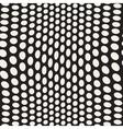 Seamless Irregular Polka Dots Distorted vector image