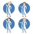 set doctor women vector image