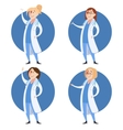 Set of doctor women vector image