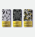 Set Of Golden Chocolate Bars Black White vector image vector image