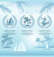 set of travel symbols in blue vector image