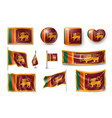 set sri lanka flags banners banners symbols vector image vector image