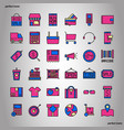 shopping and ecommerce color line icons perfect vector image vector image