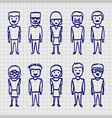 sketch people sing sketch boy vector image vector image