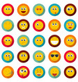 smile icon set flat style vector image vector image
