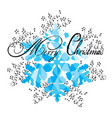 snowflake card vector image vector image
