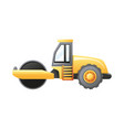 steamroller construction vehicle vector image vector image