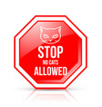 stop no cats allowed permission sign isolated on vector image