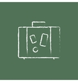 Suitcase icon drawn in chalk vector image vector image