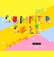 summer sale banner with vacation tropical symbols vector image