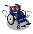super hero wheelchair in the a character shape vector image vector image