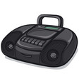 tape recorder boombox vector image vector image