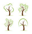 tree design on white background easy editable vector image vector image