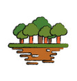 trees forest symbol vector image vector image