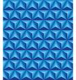 Tripartite pyramid blue seamless texture vector image vector image