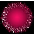 vivid floral frame vector image