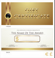 voucher gift certificate coupon brown layout vector image vector image