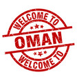 welcome to oman red stamp vector image vector image