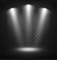 white spotlights on transparent background vector image