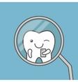 Cute tooth makes selfie vector image