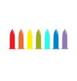 Condom rainbow icon set Protection White vector image