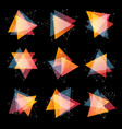 isolated abstract pink and orange color triangles vector image