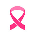 simple shape pink ribbon vector image