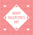 Happy Valentines day vintage card with abstract vector image