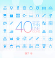 40 Trendy Thin Icons for web and mobile Set 16 vector image vector image