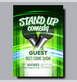 advertising poster stand up show in club vector image vector image