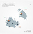 antigua and barbuda infographic map vector image