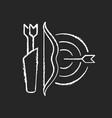 archery chalk white icon on dark background vector image