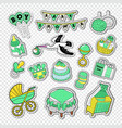 baby shower decoration set with boy toys vector image vector image