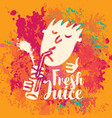 banner for fresh juice on the abstract background vector image vector image