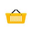 basket shopping icon vector image vector image