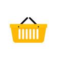 basket shopping icon vector image
