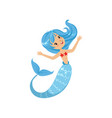 beautiful little mermaid from underwater world vector image vector image