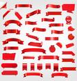 big set ribbons and labels vector image vector image