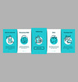 biohacking onboarding elements icons set vector image vector image