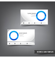 Business Card template set 033 clear style dot vector image vector image