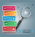 business infographics loupe icon vector image vector image