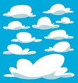 cartoon bulky cloud template collection set vector image vector image