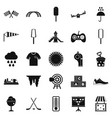 children playground icons set simple style vector image vector image