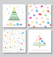 christmas and new year creative card templates vector image