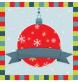 Christmas decoration greeting card vector image