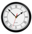 classic noble wall clock with roman numerals vector image vector image