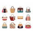 Collection of Retro Woman Bags vector image vector image