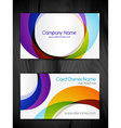 colorful abstract business card template vector image vector image